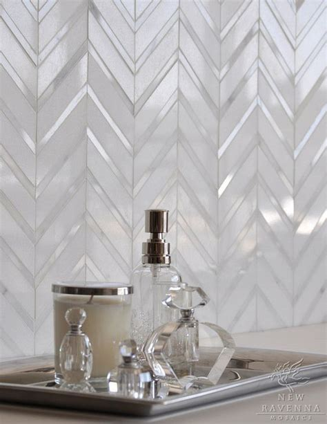 chevron tile back ground and backsplash for kitchen on