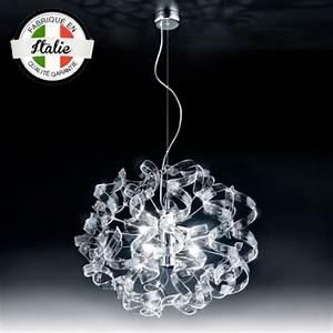 Luminaire Suspension Design Italien : suspension astre 6 lumi res cristal luminaire design ~ Carolinahurricanesstore.com Idées de Décoration