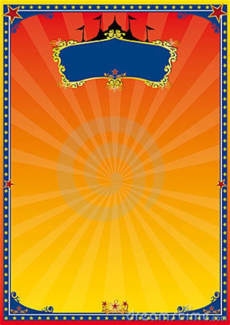 red  yellow circus poster royalty  stock