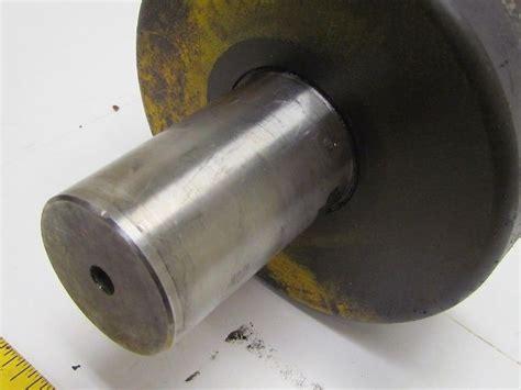 wide solid steel roller wheel flywheel shrink fit