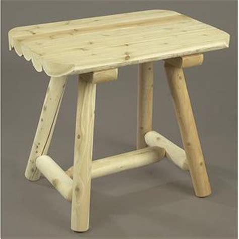 inexpensive rustic end tables rustic natural cedar unfinished end table 200459 patio