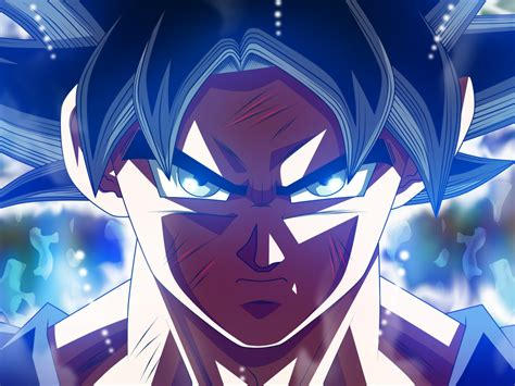 desktop wallpaper wounded son goku ultra instinct