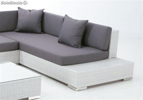 sofa lounge terraza set lounge sofa esquinero terraza rattan blanco yala