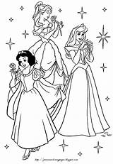 Coloring Disney Princesses Princes Princess Snow Aurora Sleeping Beauty sketch template