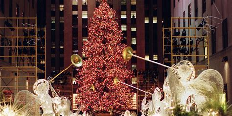 restaurant with view of christmas tree at rockefeller rockefeller center tree photos through the years