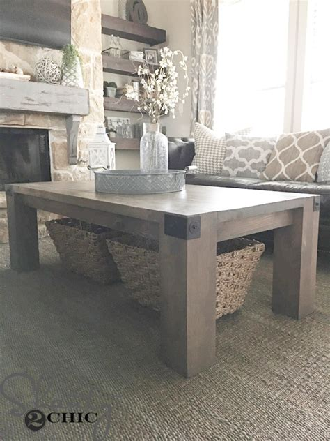 modern farmhouse coffee table    video shanty  chic