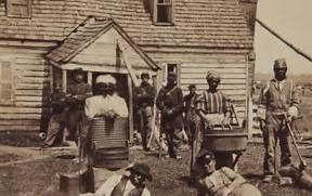 Contrabands at Headquarters of General Lafayette by Mathew Brady jpg  Slavery In The South