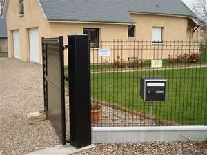 Installer Un Portail : installation de poteaux pour portail en normandie dans l ~ Premium-room.com Idées de Décoration