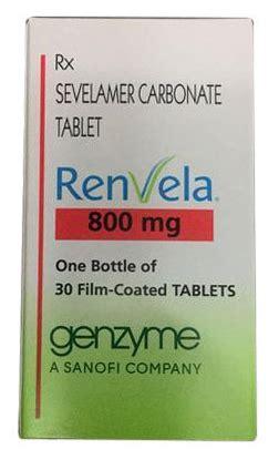 Renvela 800 mg Sevelamer Carbonate Tablets Buy Online From ...