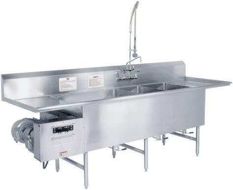 3 compartment sink dishwasher turbowash ii powered sink utensil pot pan washers