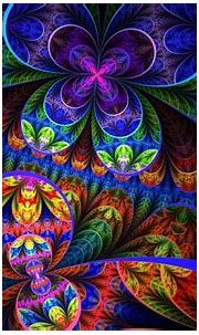 Abstract multicolor fractals psychedelic artwork wallpaper ...