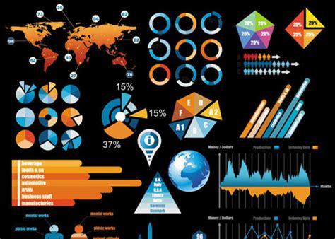 fancy infographic design elements web graphic