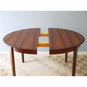 Tables Rondes Extensibles : table ronde repas extensible design danois la maison retro ~ Teatrodelosmanantiales.com Idées de Décoration