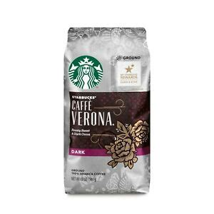 A wide variety of starbucks coffee beans options are available to you, such as arabica, robusta. STARBUCKS COFFEE CAFFE VERONA Ground Dark Roast Arabica Coffee Beans, 12 oz, NEW   eBay