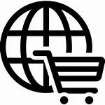 Icon Shopping Commerce Cart Global Ecommerce Circular