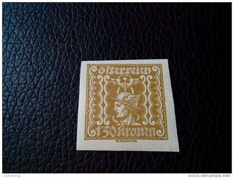 Old 1.50 Osterreich Kronen Austria Imperforated Stamp Rare