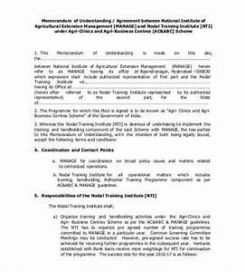 35 memorandum of understanding templates pdf doc With mou partnership agreement template