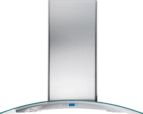 zvslss monogram  glass canopy island hood stainless steel