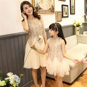 2016 family look dress matching mother daughter dresses With matching mother daughter wedding dresses