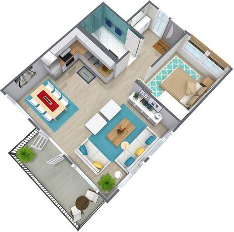 modern house plans free 1 bedroom apartment floor plan roomsketcher
