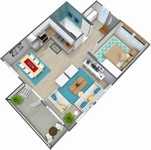 1 bedroom apartment floor plan roomsketcher for One room apartment design plan