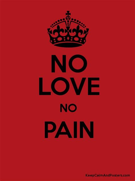 No Love No Pain Poster