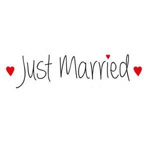 photo booth autoaufkleber quot just married quot mit herzen hochzeitsaufkleber