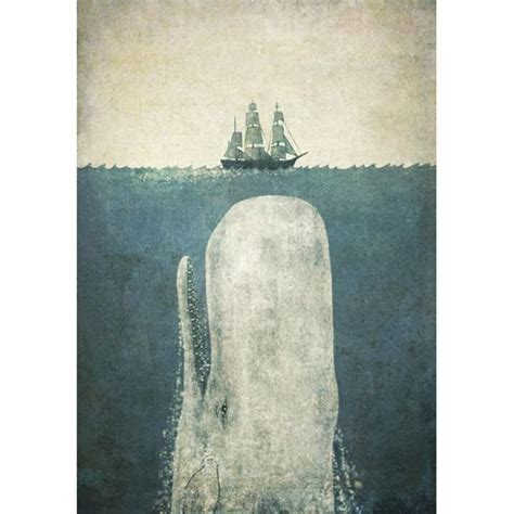 White Whale Framed Print ? Moby Dick art print