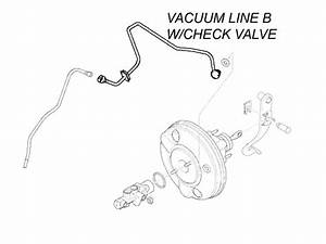 Power Brake Vacuum Line B W  Check Valve  52  5