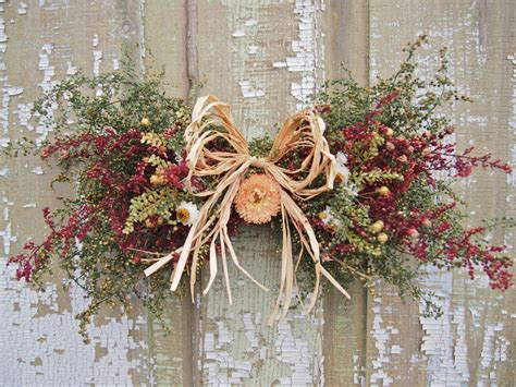Dry Flowers Decoration For Home: Small Country DRIED FLOWER Swag Rustic And Country Decor