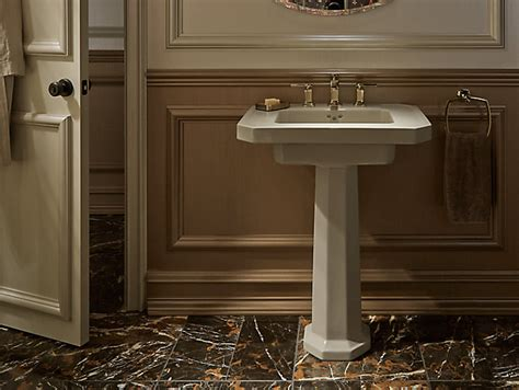 Kathryn Fireclay Basin And Pedestal With 8-inch Centers