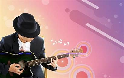 Guitar Musician Psd Theme Vector Elements Background