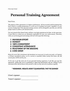 personal training sheets personal training agreement With exercise contract template