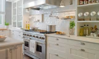 pictures of subway tile backsplashes in kitchen beveled subway tile backsplash transitional kitchen deulonder