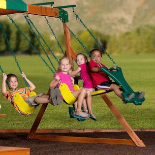 Backyard Discovery Independence Swing Set by Backyard Discovery Independence All Cedar Wood Swing Set