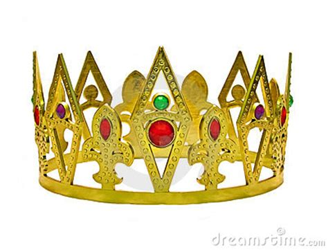single gold crown  gems royalty  stock