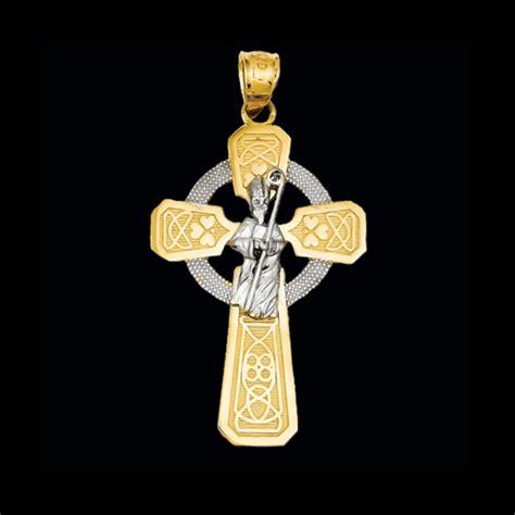 saint patrick cross pendant gracious rose jewelry