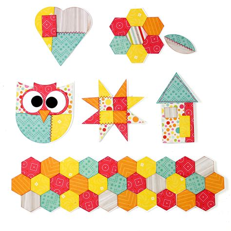 Diy Embellishments Patchwork Paper Pieces  Pazzles Craft