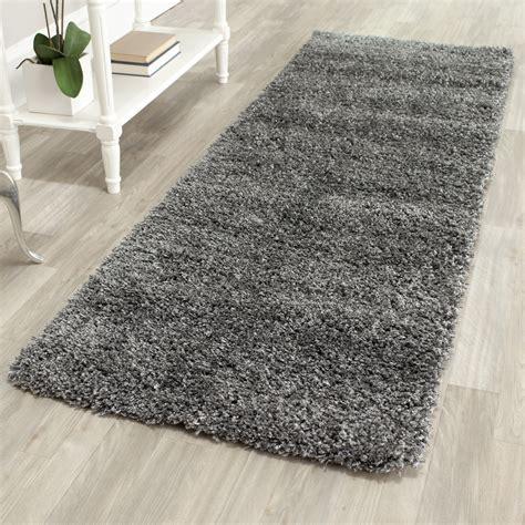 grey shag rug power loomed solid grey shag rug 2 3 quot x 9 runner ebay