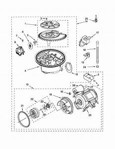 Pump  Motor Diagram  U0026 Parts List For Model Du1055xtps3 Whirlpool