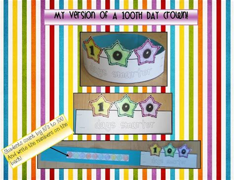 100th Day Of School Crown Template by 1000 Images About 100th Day Activities On