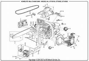 Homelite Ut10519 46cc Chain Saw Parts Diagram For General