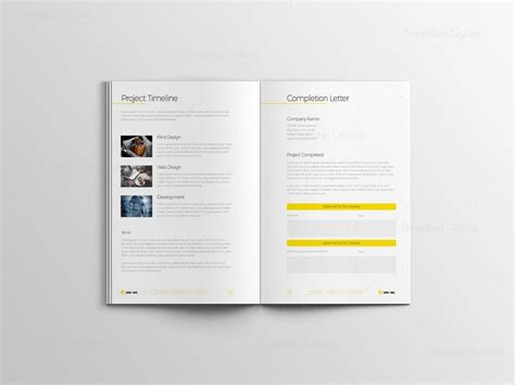 indd elegant business bi fold brochure design template