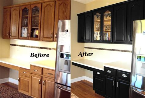 painting oak kitchen cabinets espresso how to refinish oak cabinets before and after www 7352
