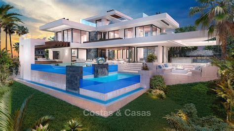 Luxury Modern New Villa Sea Golf Views For Sale Benahavis