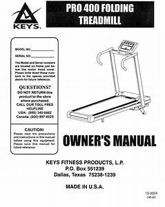 Keys Fitness Treadmill Pro 400 User Guide