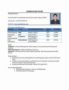 cv format for mba freshers free download in word pdf With resume format in pdf file download