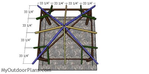 gazebo hip roof plans myoutdoorplans woodworking plans projects diy shed