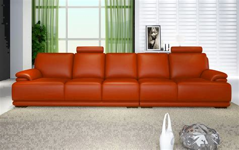 canape 5 places canape droit cuir salon orange canape cuir