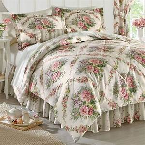 Cottage, Rose, Comforter, Set, Window, Treatments, Pillow, And